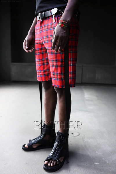 Tartan Check Side Tape Shorts