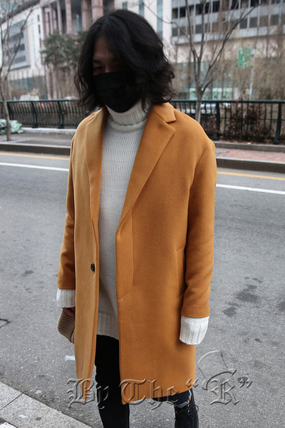 Yellow Hidden Pocket Coat
