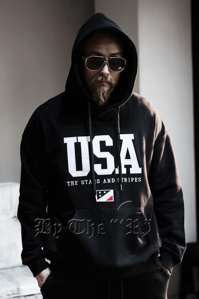 USA Patch Cotton Hoodie