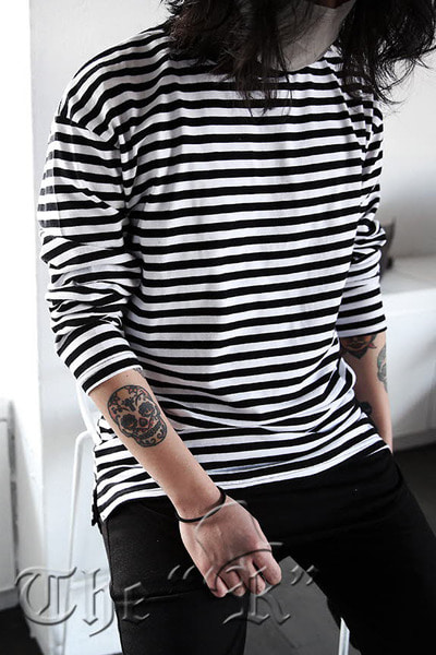Basic Casual Stripe Loose-fit T-shirts