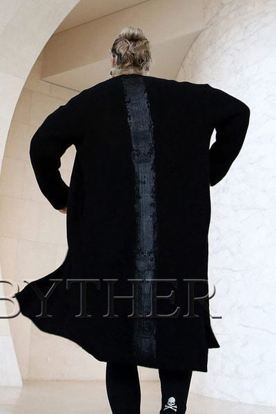 ByTheR Custom Vertically Painted Cardigan
