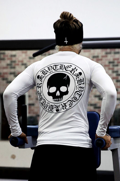 ByTheR Skull Logo Rash Guard