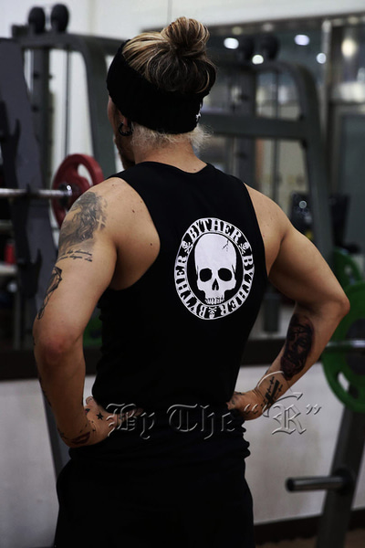 ByTheR Logo Print Slim Fit Tank Top