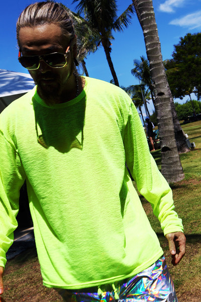 Silo Made Colorful Beach Neon Color Loose Fit T-Shirt