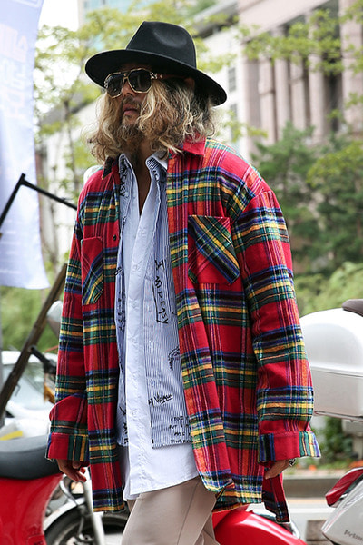 Check Plaid Oversized Loose Shirts