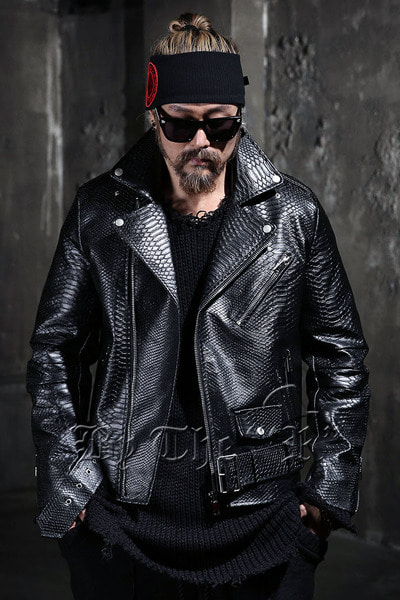 ByTheR Dark Python Pattern Rider Jacket
