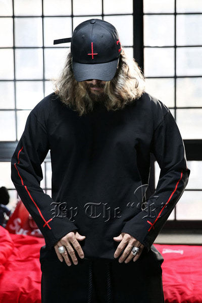 ProjectR Long Red Cross Sleeve T-Shirts