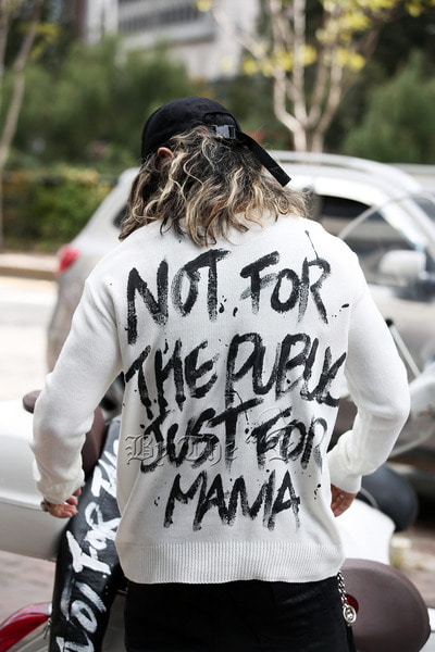 ByTheR Custom Slogan Hand Painted Knit Sweater