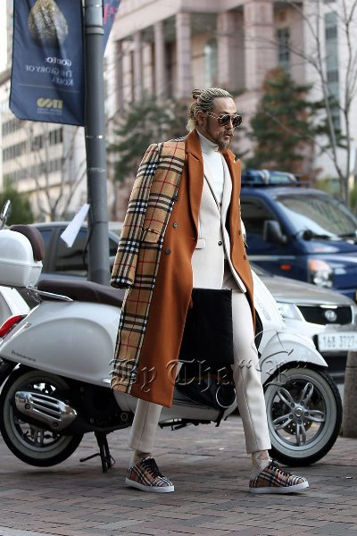 Nova check wool double coat