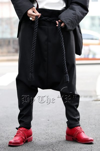 ByTheR Rope Belted Ankle String Baggy Pants