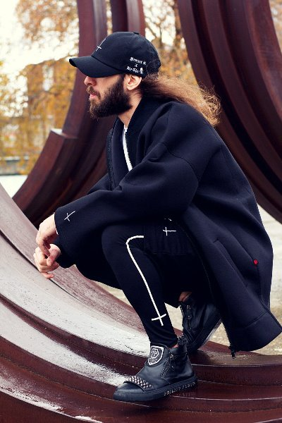 ByTheR X ProjectR Neoprene Long Casual Jacket