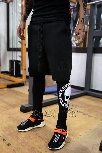 ByTheR Skull Neoprene Shorts