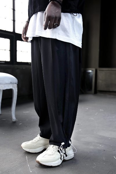 Angle String Wide Slacks Pants