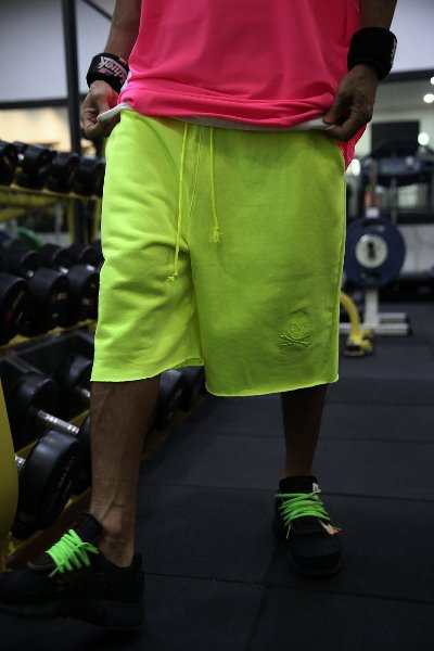 ByTheR Neon Color Loose_fit Shorts
