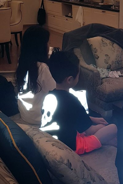 ByTheR Kids Back Reflective Skull White T-shirt