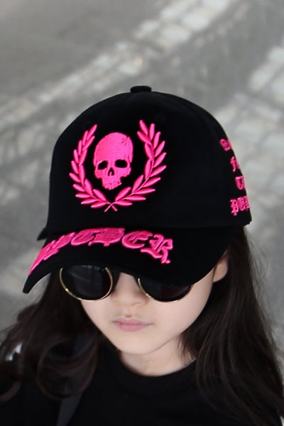 ByTheR Neon Embroidered Black Ball Cap