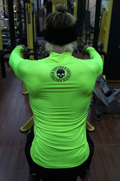 ByTheR Slogan Printed Neon Rash Guard