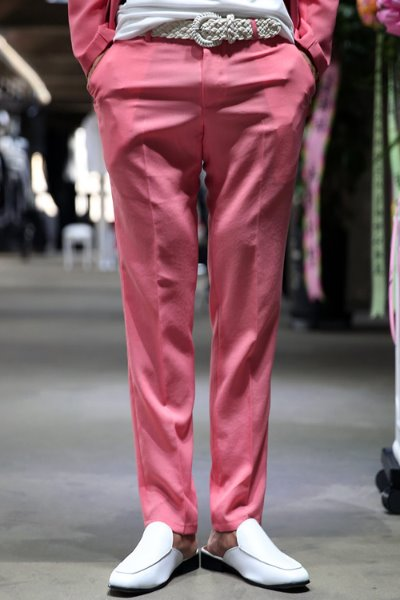 Pastel straight Slacks pink
