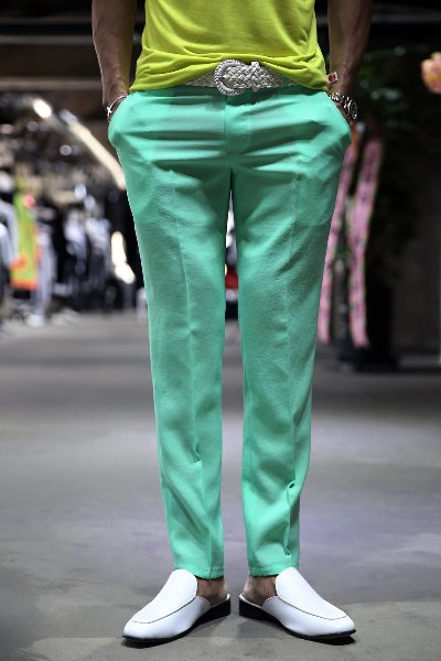 Pastel Straight Slacks Mint