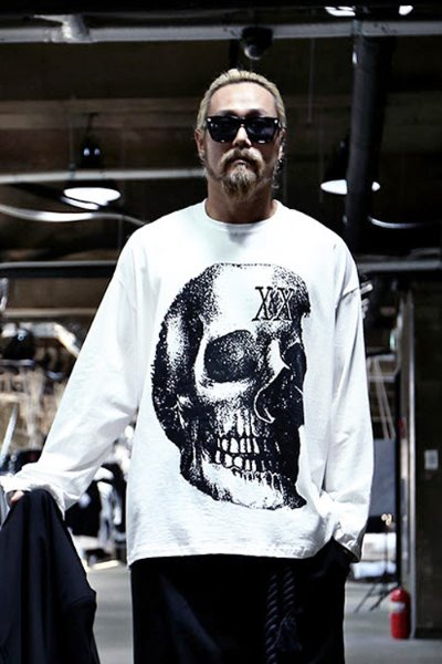 Skull Printed Unbalanced Loose Fit T-shirt