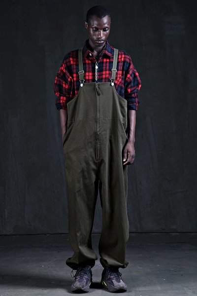 Ankle String Wide Overall Pants