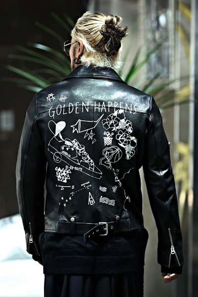 Sneakers Graffiti Lambskin Rider Jacket