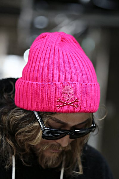 ByTheR Skull Embroidered Ribbed Beanie