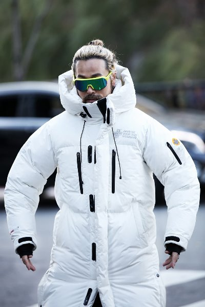 Himalaya Heavy Down Ski Long Padded White Jacket