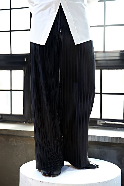 Pleated waistband Relaxed Wide Pants