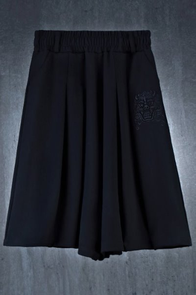 ByTheR Ghost Embroidery Skirt Wide Pants