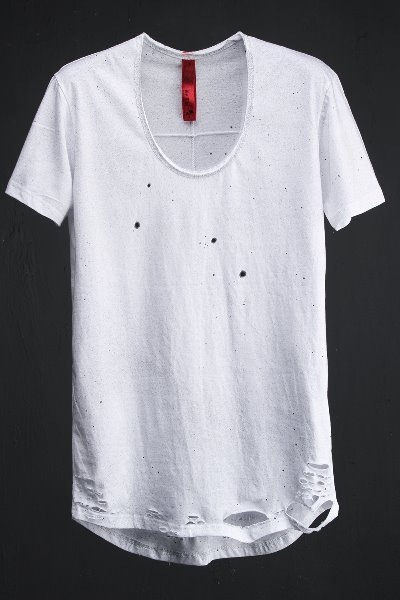 ByTheR Custom Dot Spray Paint Loose Neck Line T-shirt