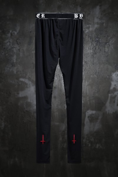 ProjetR Red Cross Embroidered Leggings