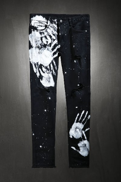 ByTheR Custom Hand Painting Cutting Knife Jeans