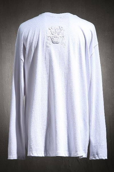 Mukha embroidered long sleeve white