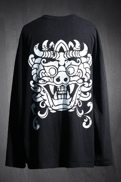 ByTheR Ghost Print Long Sleeve Black