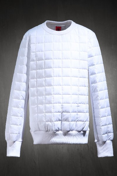ByTheR Qualting Padded Sweatshirt White
