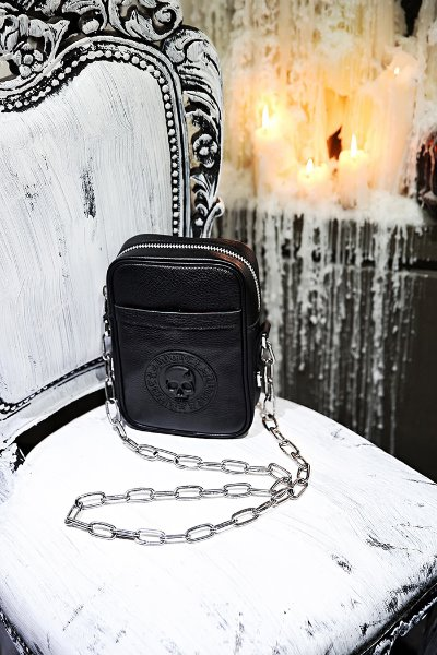 ByTheR Logo-Patch Leather Crossbag