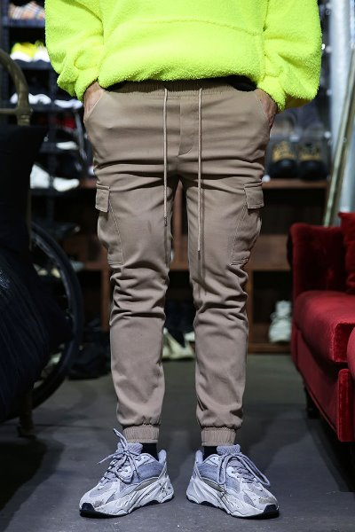 Cargo Pocket Banding Raised Jogger Pants
