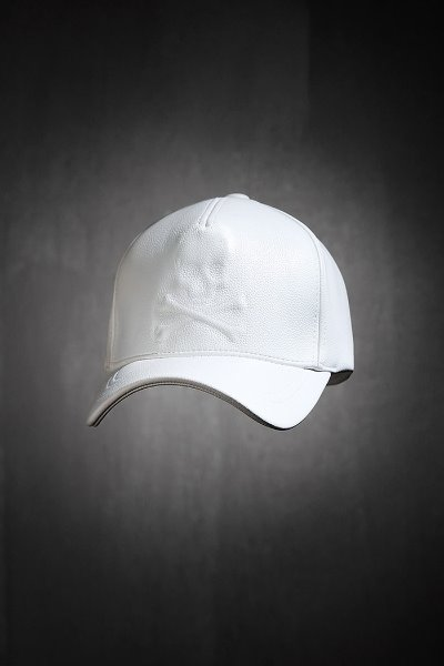 ByTheR Shadow Skull Leather Snapback White