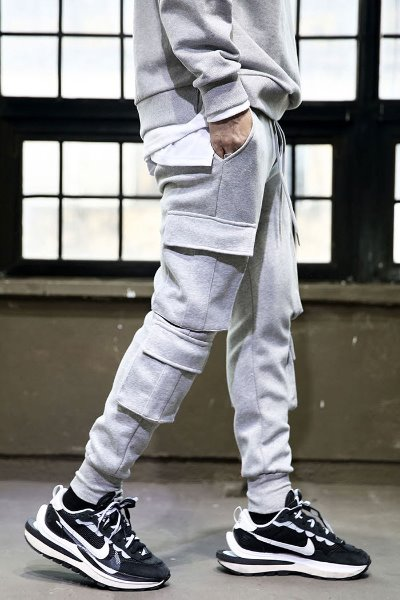 4-pocket heavy cotton training jogger trousers