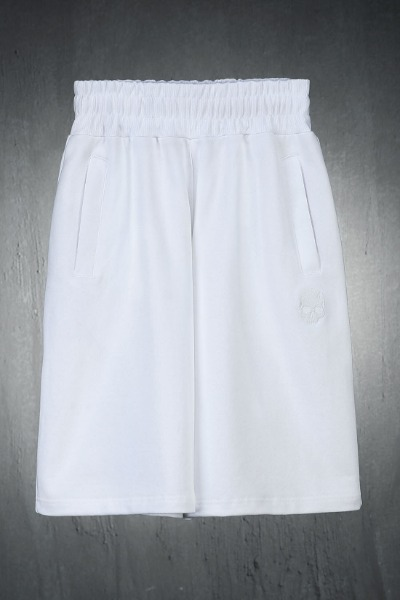 ByTheR Skull Embroidered Cotton Loose Fit Shorts White
