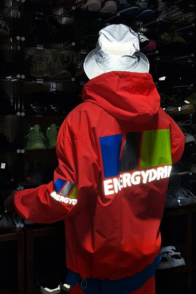 Neon Color Reflective Lettering Windbreaker Jacket