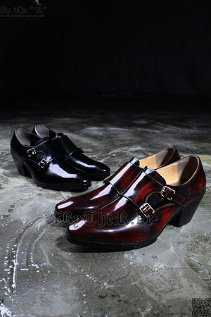 Gloss Monk Strap Heel Shoes
