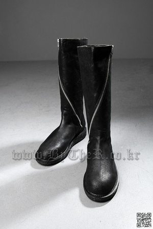 Dark Long Zipper Boots