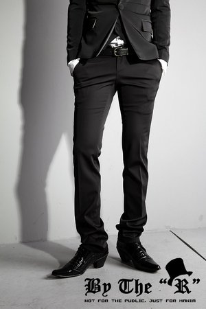 ByTheR Luxury Slim Straight Dress Pants