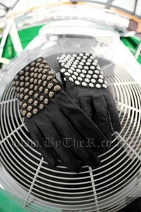 Stud Natural Leather Gloves